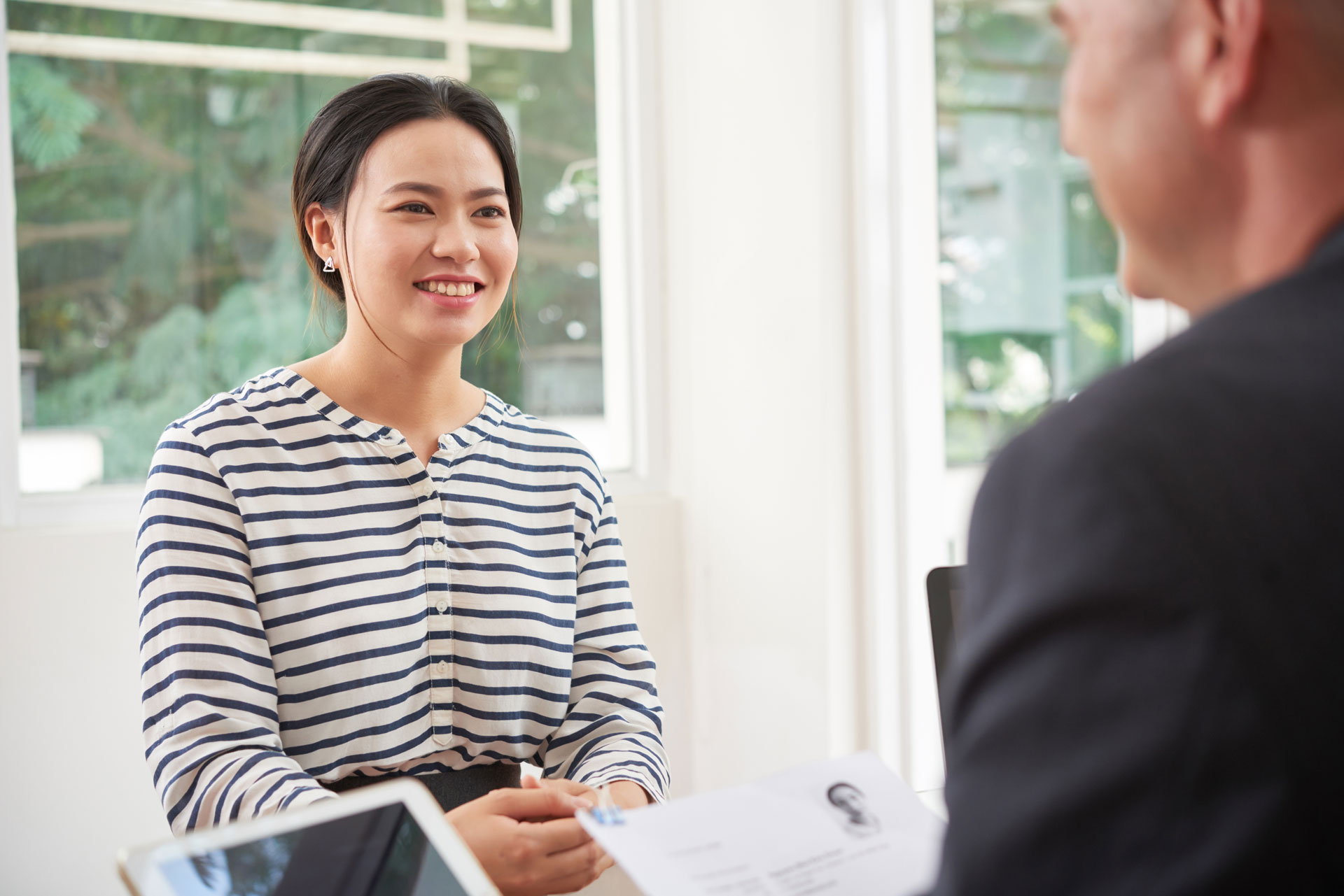 woman-at-business-interview-KPZXGEB